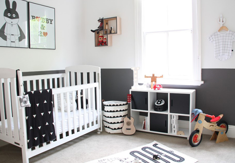 Gorgeous painting ideas for the nursery room of your - Deco chambre bebe scandinave ...